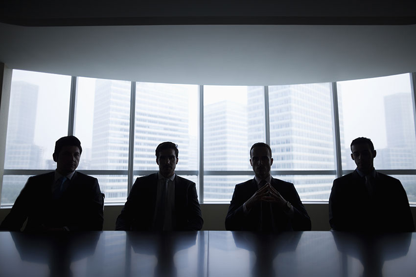 Four Boardroom Members